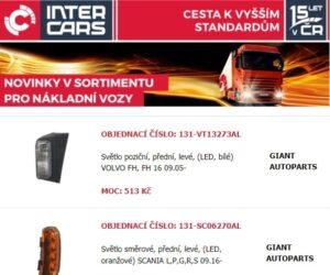 Pravidelné rozšíření náhradních dílů u Inter Cars pro nákladní vozy, autobusy a zemědělskou a stavební techniku