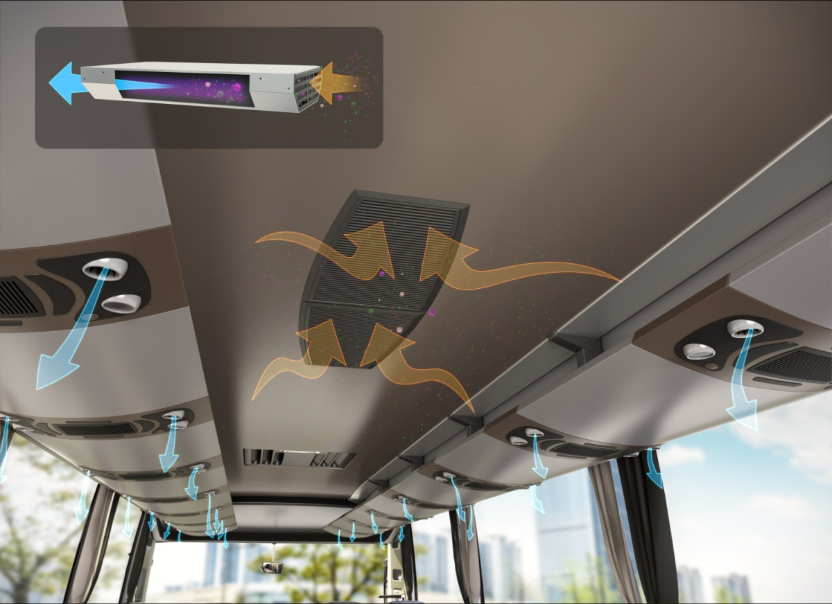Valeo zdravotní štít pro autobusy