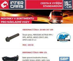 Inter Cars: Novinky v sortimentu nákladních vozů, autobusů a stavební a zemědělské techniky