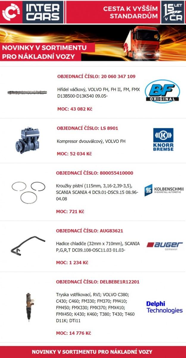 Rozšíření nabídky u firmy Inter Cars