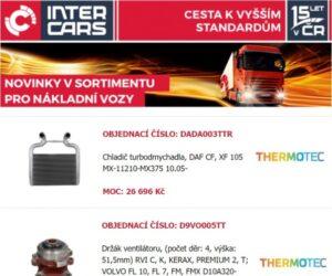 Inter Cars: Rozšíření nabídky pro nákladní vozy, autobusy a stavební a zemědělskou techniku