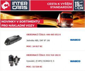 Inter Cars novinky pro užitkové vozy