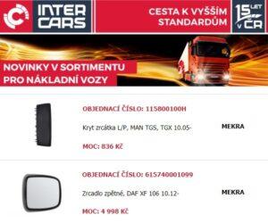 Novinky v nabídce Inter Cars pro truck, bus, agro