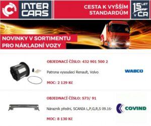 Rozšíření v nabídce firmy Inter Cars
