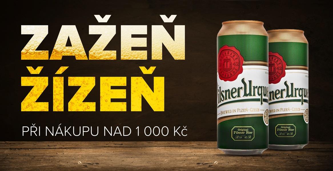 Pivo zdarma při nákupu nad 2.000 Kč