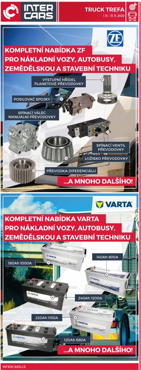 Truck Trefa na produkty ZF a Varta