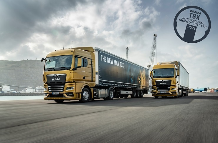 MAN TGX získal titul International Truck of the Year 2021