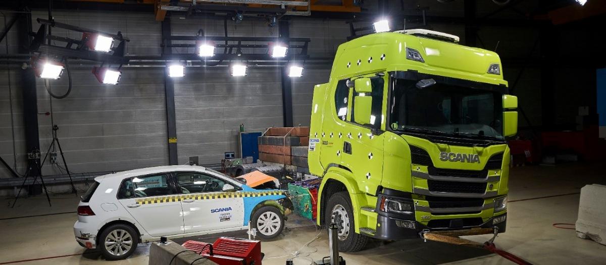 Nárazové testování Scania