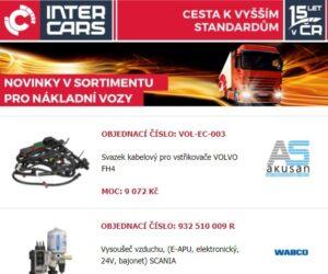 Truck, bus a agro novinky v sortimentu Inter Cars