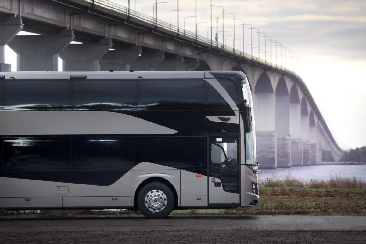 Volvo dvoupatrový autobus