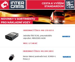 Inter Cars: Novinky dalšího týdne