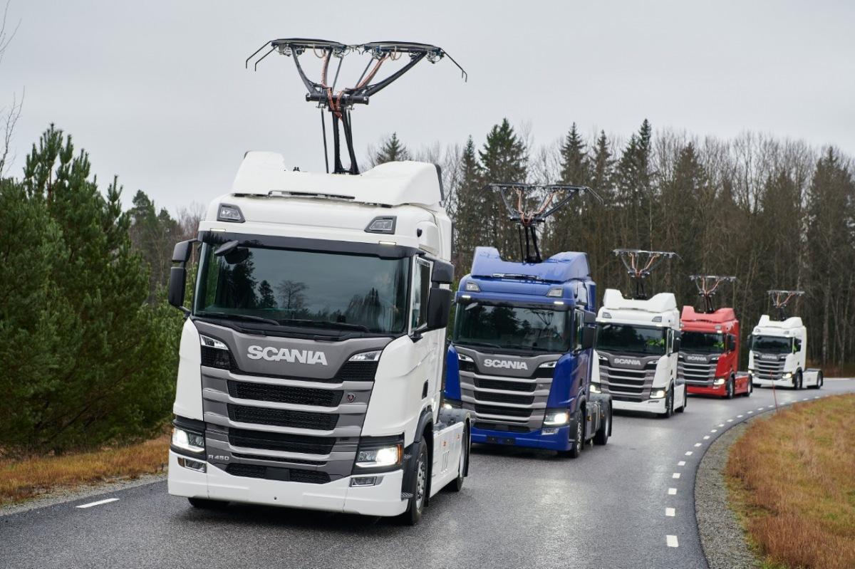 Scania vozy pro elektrifikovanou dálnici