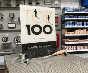 Firma EUROPART obdržela pečeť TOP 100 za úsilí k inovační aktivitě v obchodě