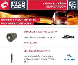 Novinky pro nákladní vozy, autobusy a stavební a zemědělskou techniku u Inter Cars
