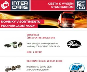 Novinky firmy Inter Cars v sortimentu pro nákladní vozy, autobusy a stavební a zemědělskou techniku
