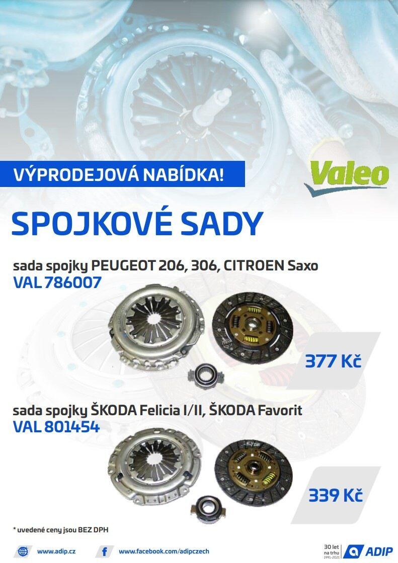 ADIP: Spojkové sady Valeo za výhodné ceny