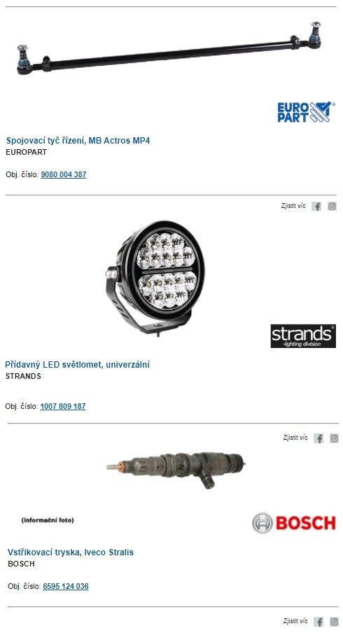 Nové produkty Europart