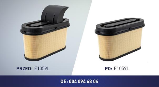 modifikace vzduchového filtru E1059L pro Mercedes Actros MP4 / MP5