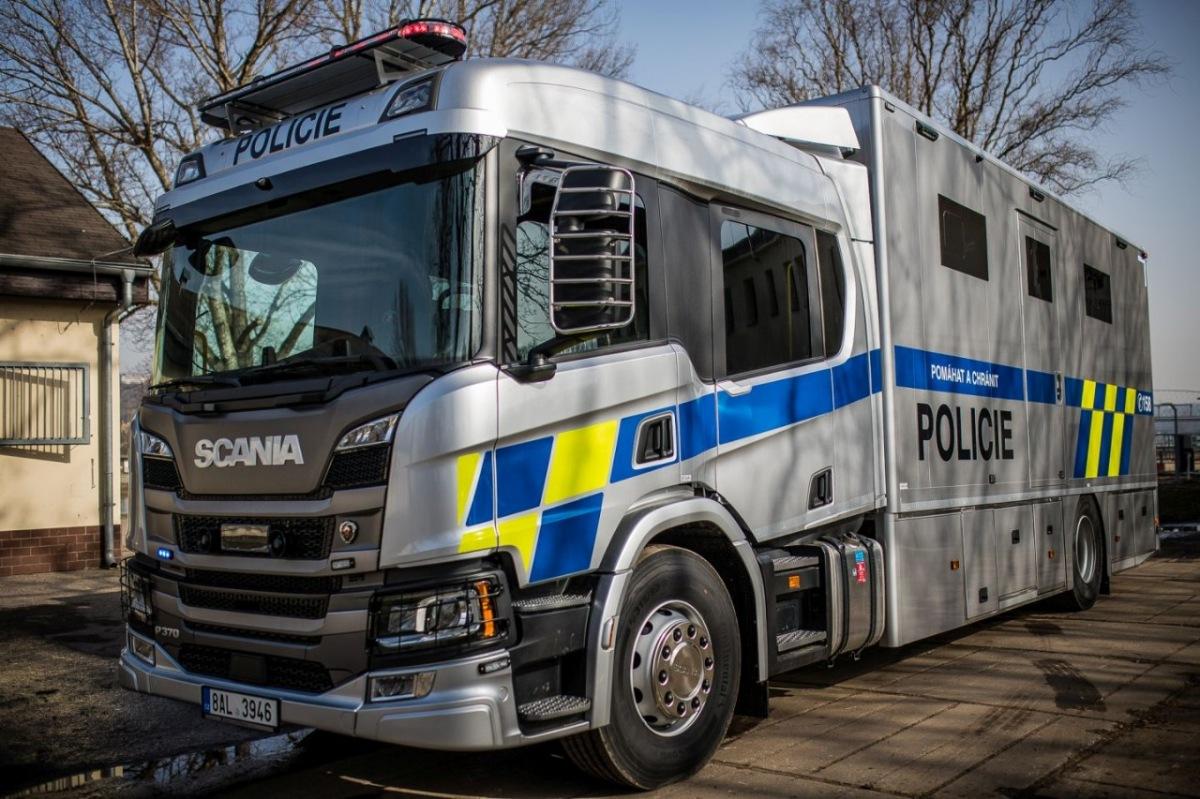 Scania vozidlo pro Policii ČR