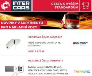 Inter Cars novinky pro truck, bus a agro