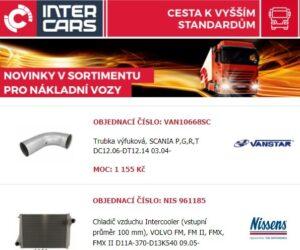 Inter Cars novinky pro nákladní vozy, autobusy, zemědělskou a stavební techniku