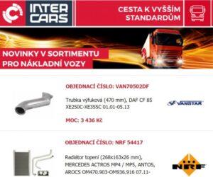 Novinky v nabídce firmy Inter Cars