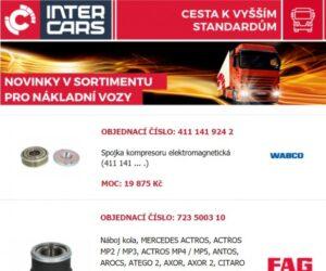 Inter Cars novinky pro nákladní vozy, autobusy a stavební a zemědělskou techniku
