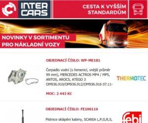 Firma Inter Cars rozšířila nabídku pro truck, bus, agro