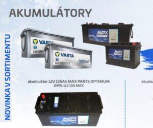 Nové akumulátory Varta a MAX Parts v nabídce firmy ADIP