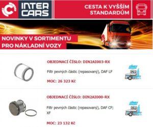 Inter Cars novinky v sortiment truck a bus